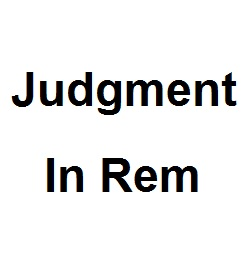 what is an in rem judgment