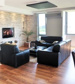 neat clean living room