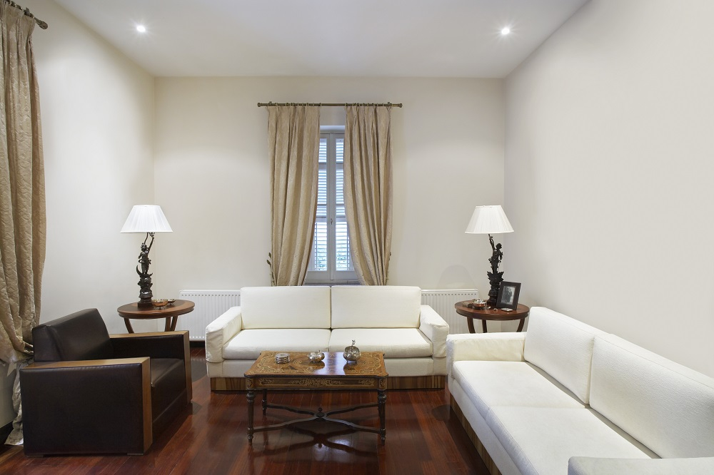 amusing plain white living room | Simple Living Room Design For Tight Spaces | Propertylogy